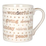 Ashdene - My Metallics Festive Type Mug