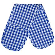 Rans - Blue Gingham Double Oven Mitt