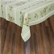 French Linen - Clos Des Oliviers Green Tablecloth 155x200cm