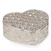 Roman - Caroline Collection Jeweled Heart Keepsake Box