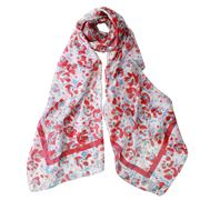 DLUX - Simba Red Silk Printed Scarf