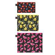 LOQI - Juicy Collection Zip Pocket Set 3pce