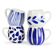 Robert Gordon - Hug Me Indigo Brush Mug Set 4pce
