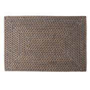 Rattan - Rectangle Greywash Placemat 46x31cm