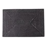 Rattan - Rectangle Placemat Blackwash 46x31cm