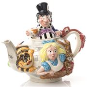 The Teapottery - Alice In Wonderland Curiouser Teapot