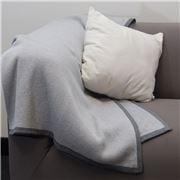 Bemboka - Pure Cotton Frame Throw Dove/Grey