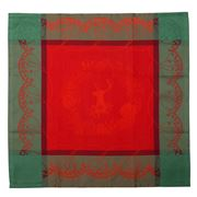 Garnier-Thiebaut - Christmas Forest Red Napkin 55x55cm