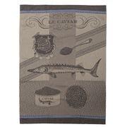 Garnier-Thiebaut - Caviar Lisere Tea Towel Bleu 56x77cm