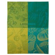 Garnier-Thiebaut - Legumes Vert Tea Towel 56x77cm