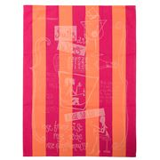 Garnier-Thiebaut - Fruits & Wine Rose Tea Towel 56x77cm