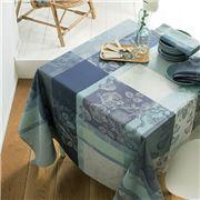 Garnier-Thiebaut - Mille Fiori Tablecloth Givre 175x250cm