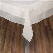 Garnier-Thiebaut - Imperatrice Uni Argent Tablecloth 175x305