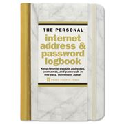 Peter Pauper Press - White Marble Internet Logbook