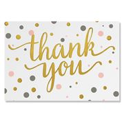 Peter Pauper Press - Pink & Gold Dots Thank You Notes