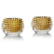 Baccarat - Eye Gold Votive Candle Holder Set 2pce