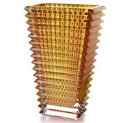 Baccarat - Eye Vase Rectangular Small Amber 20cm