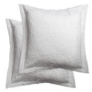 Bemboka - Pure Combed Cotton Leaves Euro Pillowcase Set 2pce