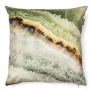 Snurk - Mineral Print Cushion Green
