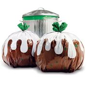 Suck UK - Christmas Pudding Bin Bags 12pk