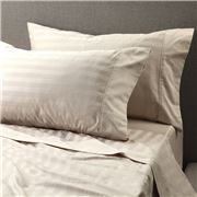 Davinci - 500 T/C Stripe Sateen Cotton Linen Queen Sheet Set