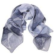 DLUX - Denim Ariel Silk Chiffon Hand Print Wrap
