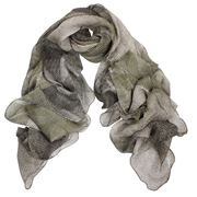 DLUX - Ariel Silk Chiffon Hand Print Wrap Khaki