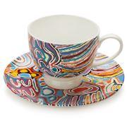 Alperstein - Judy Watson Multicolour Teacup & Saucer
