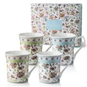 Queens - Antique Floral Royale Mug Set 4pce