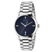 Gucci - G-Timeless Blue Diamante Dial S/Steel Watch 38mm