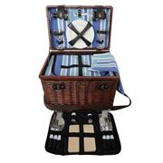 Satara - Sorrento Four Person Picnic Basket Blue
