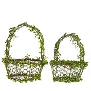 Rogue - Metal Vine Basket Set 2pce 25/32cm