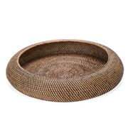 Wight's Wicker Works - Round Bowl Large Brown
