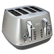 DeLonghi - Distinta Flair Silver Four Slice Toaster