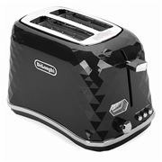 DeLonghi - Brillante Two Slice Toaster CTJX2003 Black
