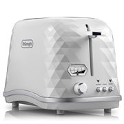 DeLonghi - Brillante Two Slice Toaster CTJX2003 White