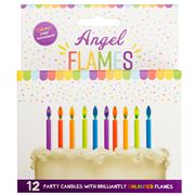 Angel Flames - Coloured Flame Party Candle Set 12pce