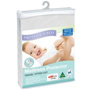 Protect-A-Bed - White Tencel Universal Fitted Cot Protector