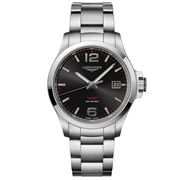 Longines - Conquest V.H.P. Black Dial S/Steel Watch 43mm