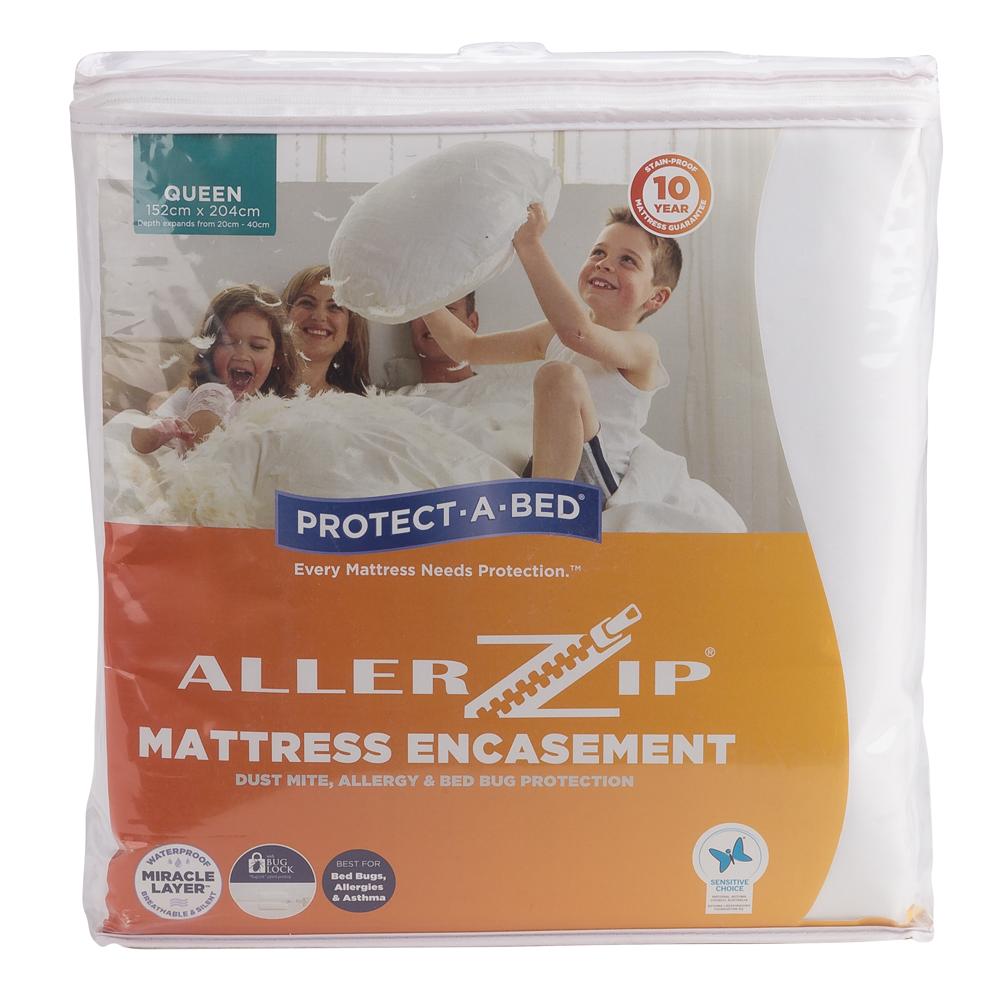 NEW Protect-A-Bed Allerzip Smooth Mattress Encasement ...