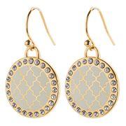 Halcyon Days - Agama Sparkle Earrings Cream & Gold