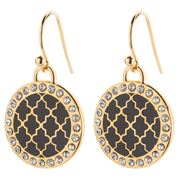 Halcyon Days - Agama Sparkle Black & Gold Earrings
