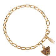 Halcyon Days - Leopard Head Gold Charm Bracelet