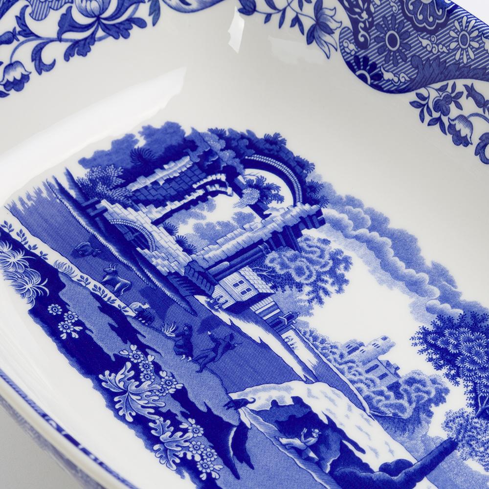 thumbnail 2 - NEW Spode Blue Italian Two Handled Serving Dish