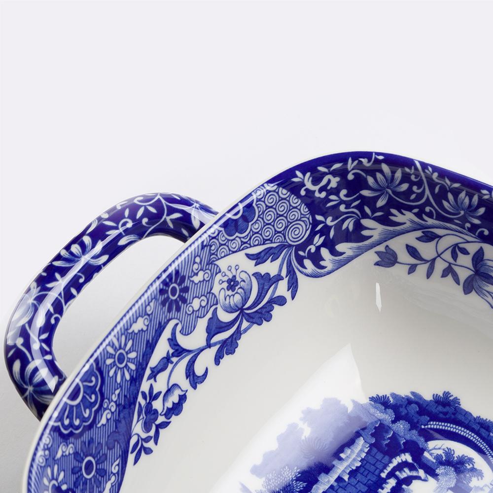 thumbnail 3 - NEW Spode Blue Italian Two Handled Serving Dish