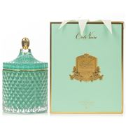 Cote Noire - Grand Tiffany Blue Art Deco Candle 450g