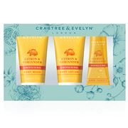 Crabtree & Evelyn - Citron & Coriander Travel Ritual 3pce