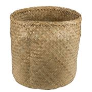 Papaya - Lulu Medium Seagrass Basket Natural