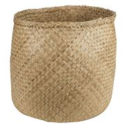 Papaya - Lulu Small Seagrass Basket Natural