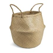 Papaya - Amara Seagrass Natural Basket Large